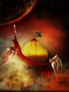 گنبد خونین ابا عبدالله علیه السلام
