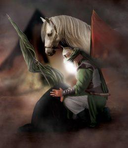امام حسین هنگام وداع