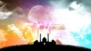 پوستر حضرت امیر المومنان:السلام علي ربيع الانام و نضرةالايام