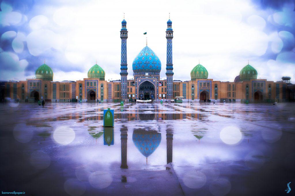 عکس بسیار زیبای مسجد مقدس جمکران
