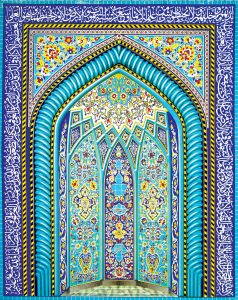 طرح با کیفیت کاشی کاری محراب مسجد