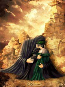حضرت زینب و فاطمه بنت الحسین (رقیه) سلام الله علیهما در خرابه شام