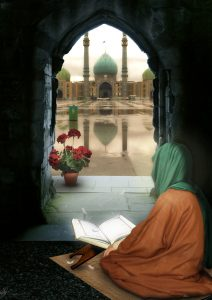 تصویر سازی بسیار زیبای امام زمان عج